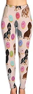 Cyloten Donuts Light Dog Yoga Pants Washable Legging Tights Quick Dry Sportswear for Women Girl Workout