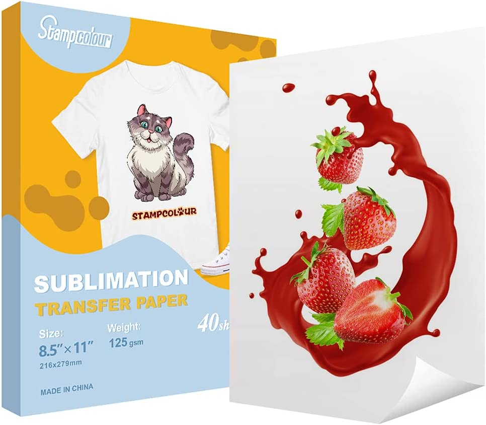 Stampcolour Albuquerque Mall Sublimation Max 54% OFF Paper Heat 8.5x11 Transfer A4 inch