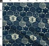 Wabenmuster, Bienen, Geometrisch Stoffe - Individuell