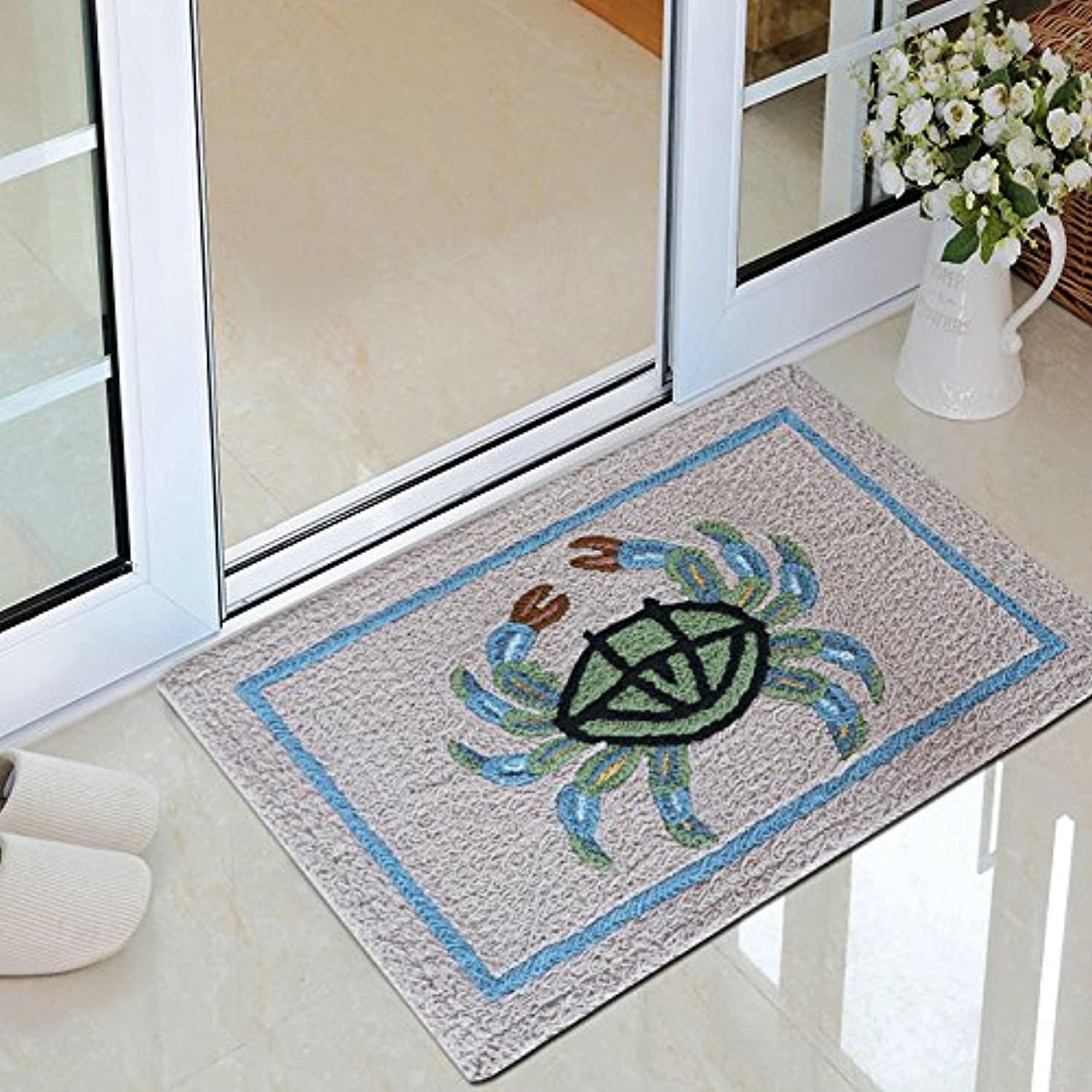 Cartoon Strip Pattern Entrance Door mat, Simple and Fashionable Doormat Bedroom Household Absorbent pad Bathroom Household dust removal-M-50x80cm(20x31inch)