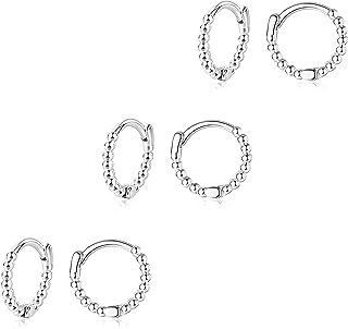 هوو هوب أقراط ذهبية الأنف خاتم هوب هوب مجموعة من 3 أزواج للنساء الرجال في سن المراهقة الفتيات لا يسبب الحساسية مطلي بالذهب...