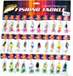 Fishing Lures Kit Fishing Spinners Metal Hard Bait Lake River Trout Bass Pike Fishing Spinners Spoons 1/8oz-1/6oz 30Pcs