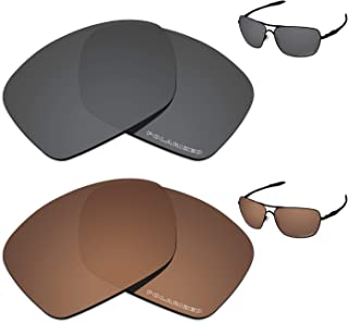 Performance Lenses Compatible with Oakley Plaintiff Squared Polarized Etched-Value Pack