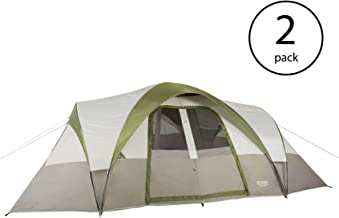 Wenzel Mammoth 16 Person Family 3 Season Outdoor Camping Dome Tent (2 Pack)