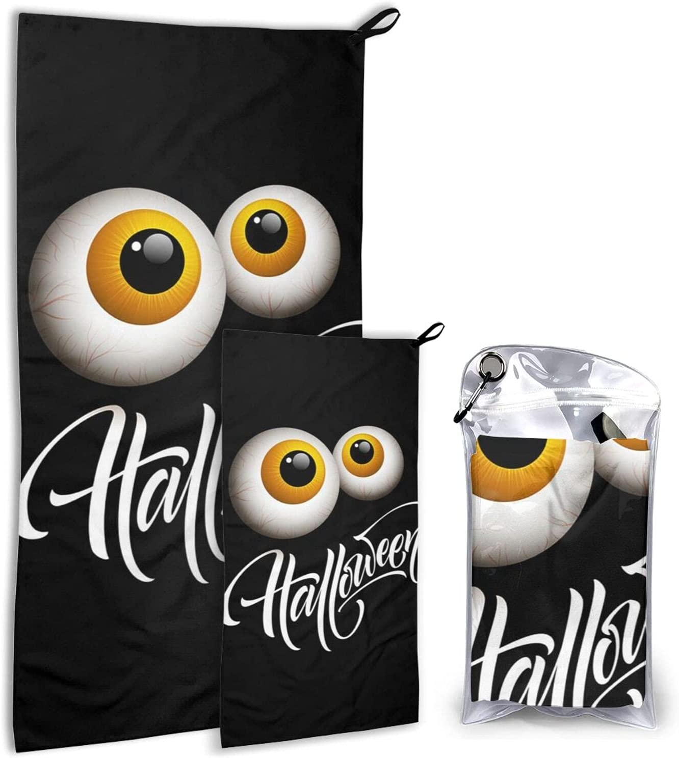 Happy Halloween Microfiber Towels 2 Pack Quick Camping Surprise price - Max 61% OFF Dry T