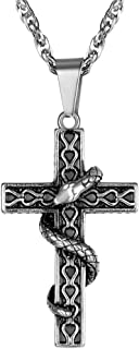 cross with snake