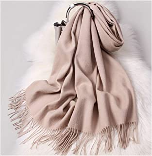 HXSD Wool Scarf Female Winter, 200 * 60cm Large Shawl Collar, Warm and Cold, Wild, Multiple Colors (Color : Beige)