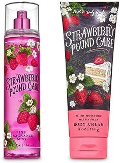 Bath and Body Works - Strawberry Pound Cake - Fine Fragrance Mist and Ultra Shea Body Cream - Full Size –2020