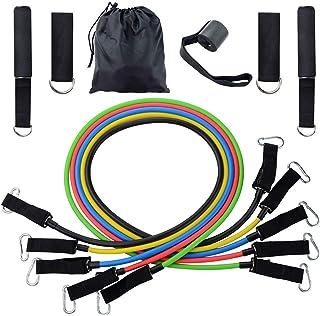 11Pcs set Sports Fitness Elastic Resistance Bands Yoga Pull Rope Exercise Tubes Elastic Workout Bands for Yoga Expander El...