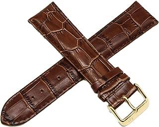 Lucien Piccard 22MM Alligator Grain Genuine Leather Watch Strap 8