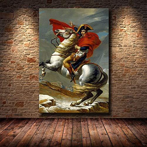 panggedeshoop Pinturas Artísticas En Lienzo De Napoleón En La Pared, Carteles E Impresiones, Arte Clásico, Cuadros De Arte En Lienzo De Napoleón, 50X70Cm -Jz2752