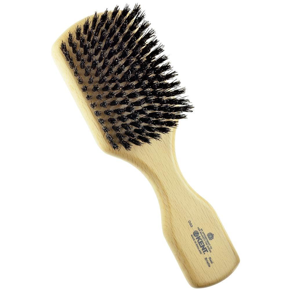 Kent OG2 Beechwood Hair Brush and Care for Facial Beard - Branded goods New item
