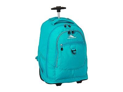High Sierra Chaser Wheeled Backpack (Bluebird) Backpack Bags