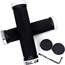 LYCAON Bike Handlebar Grips, Non-Slip-Rubber Bicycle Handle Grip with Aluminum Lock, Bike Grip for Scooter Cruiser Tricycl...