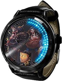 Anime Watch One Piece Luffy LED Touch Screen Waterproof Digital Flashing Light Clock Wristwatch Unisex Cosplay Novelty Best Gift for children