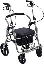 PXY Walking Frame,Drive Rollator Walker with Seat, 4 Wheels Walking Aids Foldable, Heavy Duty Rollator Walker Lightweight ...