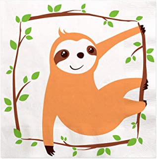 Big Dot of Happiness Let's Hang - Sloth - Baby Shower or Birthday Party Cocktail Beverage Napkins (16 Count)