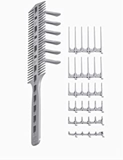 CombPal Scissor Clipper Over Comb Hair Cutting Tool Barber haircutting Pro Kit (Gray)