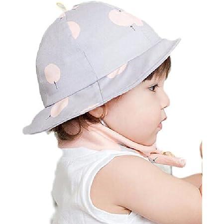 Seliyi つば付き ハット ベビー 赤ちゃん 用 帽子 ハット 日差し 紫外線防止 丸洗い 可 (パープル)