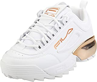 Fila Women's Disruptor 2A Chrome Leather Sneakers, White