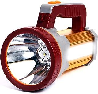 Orchidtent high Power LED Rechargeable Spotlight Handheld 6000 Lumen Super Bright Large LED Flashlight High Lumen Portable...