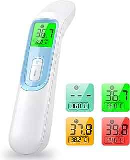 konjac Termometro Infrarrojos, Termómetro digital sin contacto con alerta de fiebre,Termómetro profesional con lector para...