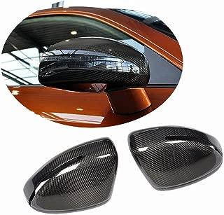 MCARCAR KIT Mirror Cover fits Audi TT/TT Sline/TTS/TTRS 2008-2014 R8 2007-2011 Replacement Carbon Fiber CF Rearview Side Rearview Mirror Caps Car Exterior Outside Shell
