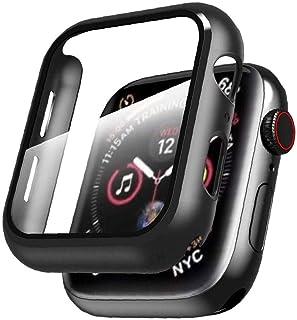 Iwatch wszystko w zestawie pokrowiec ochronny z folią ochronną ze szkła hartowanego do serii Apple 1/2/3/4/5/6/se 44 mm cz...