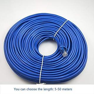Fijner 5/10/15/20/25/30/50 CM CAT5 100M RJ45 Ethernet-kabels Connector Ethernet Internet Netwerkkabel Snoer Draadlijn blau...