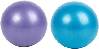 Pilates Balls Small 2 Pack Pilates Ball, Antiskid ball, Mini Exercise Ball with Inflatable Pipette for Yoga, Pilate, Offic...