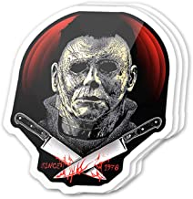 Kachi Art Cool Sticker (3 pcs/Pack,3x4 inch) Since 1978 Villain Fictional Character Halloween Stickers for Water Bottles,Laptop,Phone,Teachers,Hydro Flasks,Car