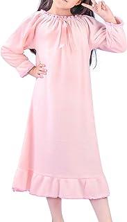 قميص نوم بناتي شتوي مخملي ملابس نوم الأميرة بأكمام طويلة من BOOPH