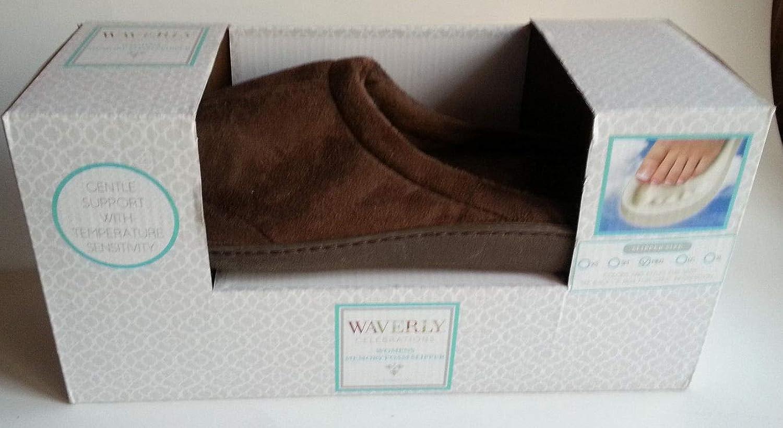 Waverly Women's Ultra Soft Memory Foam Slipper Brown