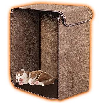 VIVREAL デスクヒーター 遠赤外線ヒーター 薄型パネルヒーター テーブルヒーター 消費電力200W 省エネ 足温ヒーター ホイールで広い範囲温度調整可能 無煙無騒音無風無害 パネルヒーター 足元暖房 転倒・過熱保護 折り畳み式 冬対策 家庭・オフィス・犬猫用などで大活躍 カバー付きで暖かさが逃せない 広いヒーター面 組み立て 约57*47*32CM (ブラウン)