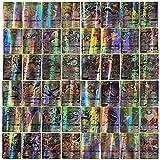 CZSMART 60 Cartas Pokemon, Tarjetas de Juegos de Animación para Niños Coleccionables, Incluyendo 60 Mega / 60 Tagteam