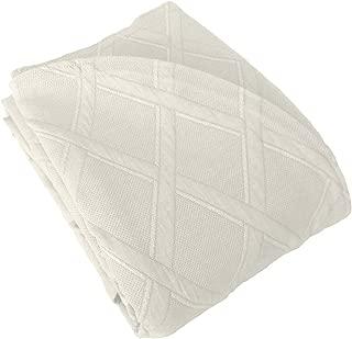 Europa Fine Linens Evora Matelasse Bedding, Bedspread King Size 120-Inch by 120-Inch, Ivory