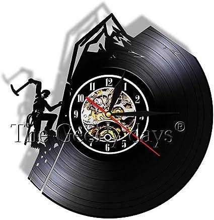 Liushenmeng Reloj de Pared de Disco de Vinilo Escalada en ...
