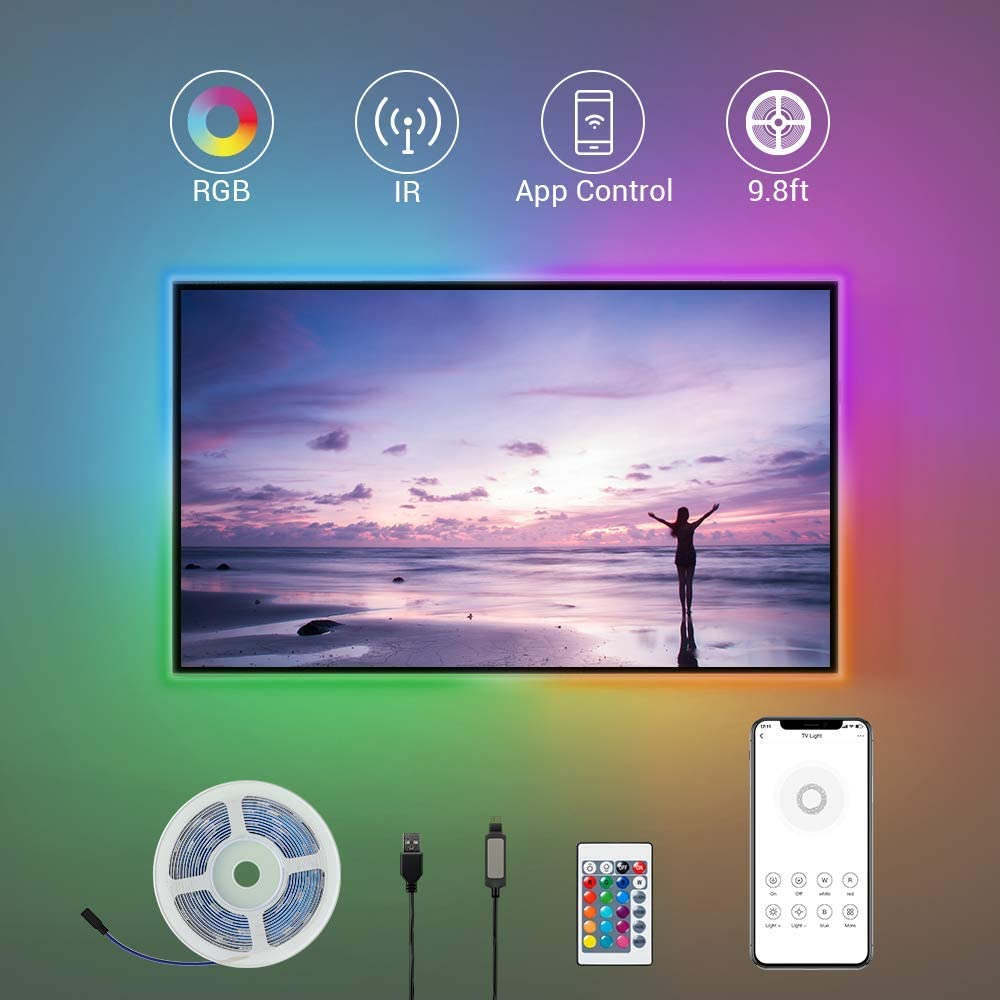 BroadLink All items free shipping LED Strip Lights 9.8ft TV 32 60 to for Max 69% OFF Backlight