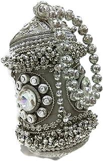 Trend Overseas Golden Handmade metal potali Handbag purse Hand clutch fully beaded Crystal Rhinestones women party clutch ...