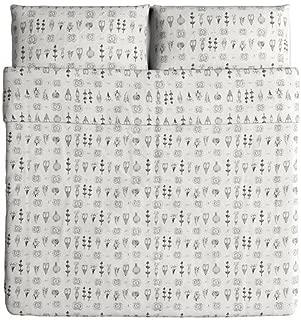 IKEA Sissela Duvet Cover and Pillowcases, King, White