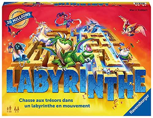 Ravensburger - Labyrinthe - Jeu de société classique - Jeu de réflexion famille - 2 à 4 joueurs dès 7 ans - 26743 - Version française