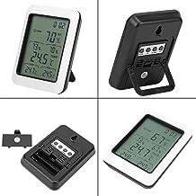 Pantalla LCD Grande Temperatura Medidor de Humedad Termo-higrómetro electrónico Termómetro Interior Inalámbrico Multifunción con un Laboratorio de Stent para el hogar