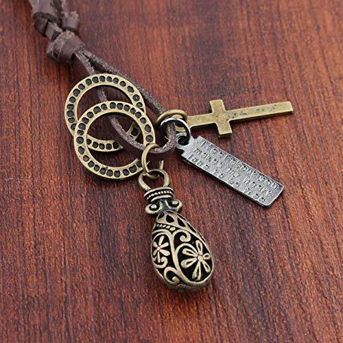 Relovsk sieraden halsketting paar halskettingen nationale stijl doorbroken vaas hanger brons ketting mannelijk en vrouwelijk paar halsketting