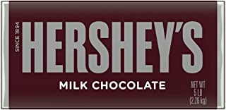 HERSHEY'S Giant Chocolate Bar, Original Chocolate Candy Bar, Unique Holiday Candy Gift, 5 Pounds