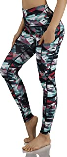 ODODOS Women's High Waisted Pattern Leggings,  Tummy Control,  Workout Yoga Pants with Pockets