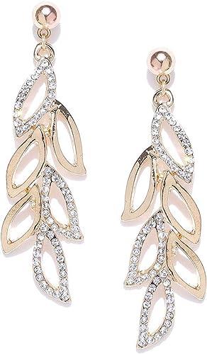 Shining Diva Fashion Stylish Fancy Party Wear Traditional Gold Plated Drop Earrings for Women (9850er)