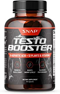 Snap Supplements Men's Testo Booster - Improves Performance Blood Flow, Promotes Muscle Fast, Optimizes Natural Stamina, E...