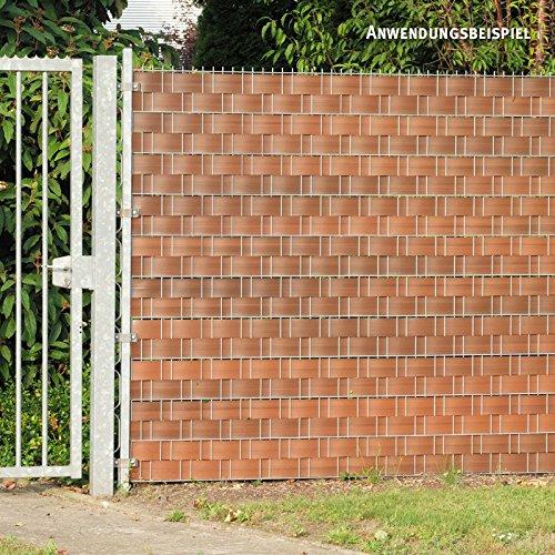 Videx Visión – Tiras para vallas, PVC imitación de madera, H: 9, 5 x l: 250 cm, color nogal: Amazon.es: Jardín