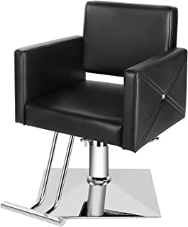 Artist Hand Barber Chairs, All Purpose Hair Salon Chairs with Heavy Duty Hydraulic Pump, 360 Degrees Rolling Swivel Spa Be...