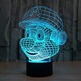 3D Illusion Nuit Lumière Win-Y LED Bureau Table Lampe 7 Couleur Tactile Lampe Maison...